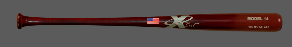 Baseball Pro Maple Wood Bat Model 14 32.5 (Mahogany)