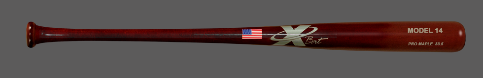 Baseball Pro Maple Wood  Bat Model 14 33.5 (Mahogany)