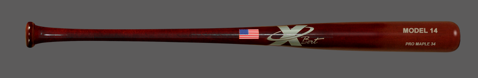 Baseball Pro Maple Wood Bat Model 14 34 (Mahogany)