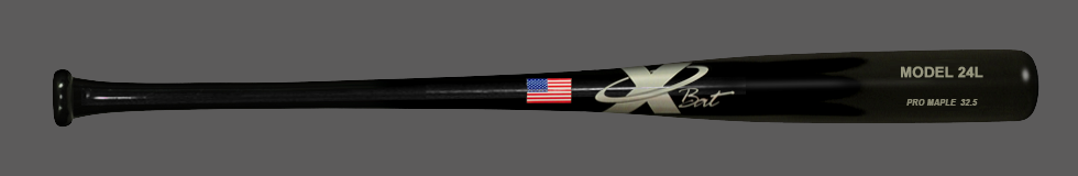 Baseball Pro Maple Wood Bat Model 24 32.5 (Black)
