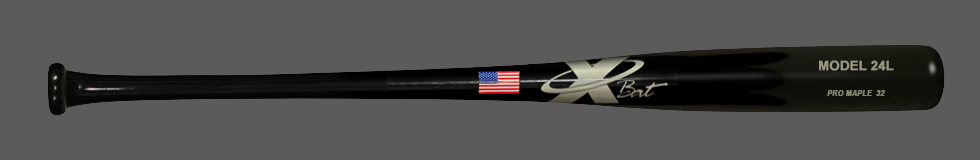Baseball Pro Maple Wood Bat Model 24 (Black)