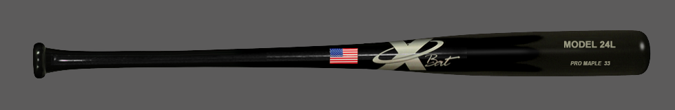 Baseball Pro Maple Wood Bat Model 24 33 (Black)