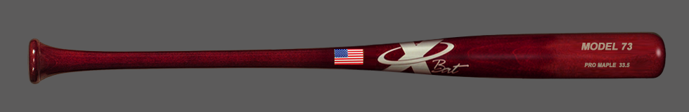 Baseball Pro Maple Wood Bat Model 73 33.5 (Red Mahogany)