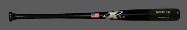 Baseball Pro Maple Wood Bat Model 24 (Black)