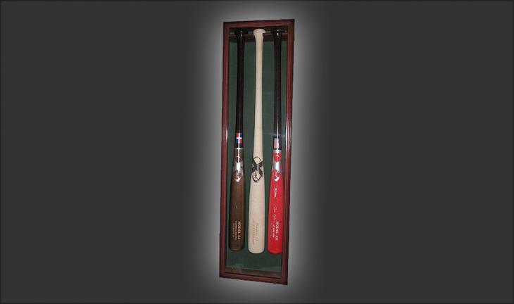 3 Bat Display Case