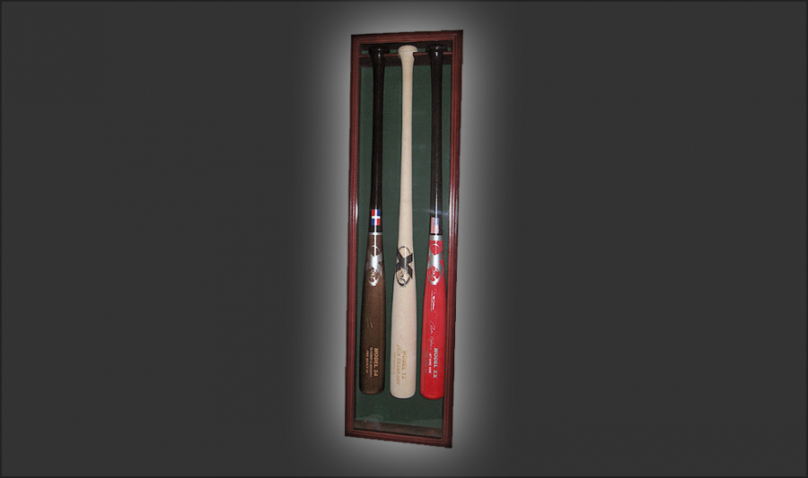 3 Bat Display Case